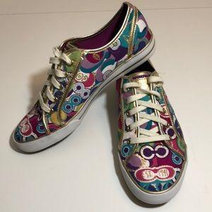 Coach Poppy Pop C Dee Sneakers - size 8.5